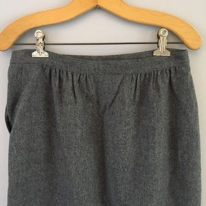 Pendleton | Vintage Virgin Wool Gray Skirt Sz 12